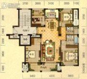 拓鑫新景家园4室2厅2卫141平方米户型图