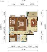 叠翠轩3室2厅2卫108--110平方米户型图