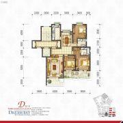 丽汤・首山梦之湾3室2厅2卫128平方米户型图