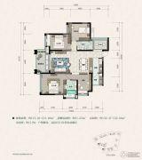 建曙高尔夫1号4室2厅2卫121平方米户型图