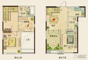 中铁逸都国际2室2厅2卫0平方米户型图