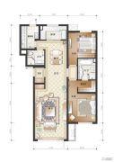 万科温莎堡2室2厅2卫122平方米户型图