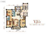 碧桂园银河城3室2厅2卫126平方米户型图