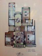湖畔壹号3室2厅2卫139平方米户型图