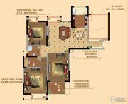 观山名筑3室2厅2卫124平方米户型图