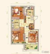 越秀星汇蓝海2室2厅1卫74平方米户型图