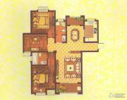 中央花园3室2厅2卫133平方米户型图