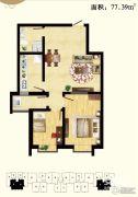 天保绿城2室1厅1卫0平方米户型图