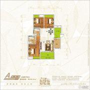 新恒基翡翠城3室2厅2卫106平方米户型图