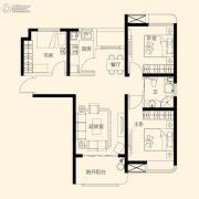 星颐广场3室2厅1卫105平方米户型图