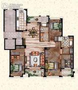 莲桥府4室2厅2卫192平方米户型图