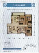 景新国际名城4室2厅2卫154平方米户型图