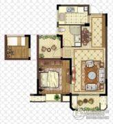 金浦御龙湾2室2厅1卫68平方米户型图