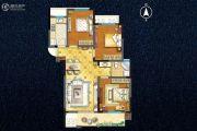 宇业天逸华庭3室2厅1卫104平方米户型图