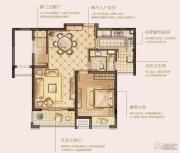 华润中心 高层1室2厅1卫87平方米户型图
