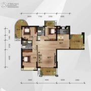 中南明珠3室2厅2卫127平方米户型图