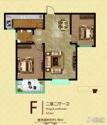 九乐倾城2室2厅1卫91平方米户型图