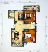 景园・盛世华都2室2厅1卫156平方米户型图
