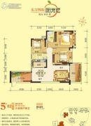 东方明珠・阳光橙3室2厅2卫118平方米户型图
