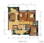 兴盛天鹅堡3室2厅2卫103平方米户型图
