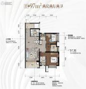 新城�Z城2室2厅2卫97平方米户型图