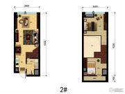 国瑞中心中央公馆0室0厅0卫44平方米户型图