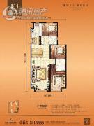 丹东万达广场3室2厅2卫0平方米户型图