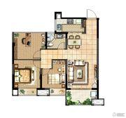 中电颐和府邸3室2厅1卫90平方米户型图
