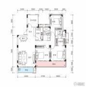 玫瑰园3室2厅2卫137平方米户型图