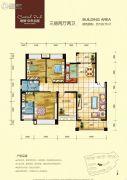 恒�N・中央公园3室3厅2卫139平方米户型图
