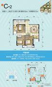 旭阳台北城2室2厅1卫72平方米户型图