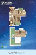 F 、水星城3室3厅3卫116平方米户型图