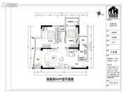 丽清花园2室2厅2卫92平方米户型图