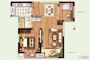 景瑞望府2室2厅1卫80平方米户型图