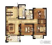 中粮鸿云3室2厅1卫91平方米户型图