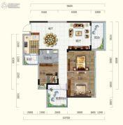 香槟小镇3室2厅1卫95平方米户型图
