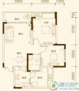 中亿阳明山水2室2厅1卫60平方米户型图