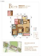 昆明新城吾悦广场3室2厅2卫116平方米户型图