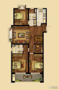 海峡城4室2厅2卫140平方米户型图