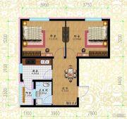 黎明荣府2室1厅1卫41平方米户型图