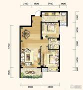 明发城市广场3室2厅1卫88平方米户型图
