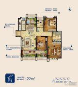 蓝泰海乐府3室2厅2卫122平方米户型图