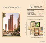 新城国际花都2室2厅1卫110平方米户型图