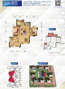 金科天宸1室2厅1卫70平方米户型图
