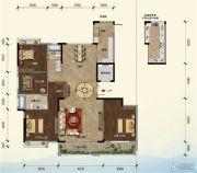 江畔大地4室2厅2卫156平方米户型图