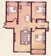 香榭里花园3室2厅1卫110平方米户型图