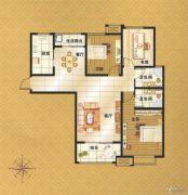 伟业・中央公园3室2厅2卫121平方米户型图