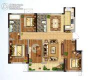 金地格林世界三期4室2厅2卫145平方米户型图