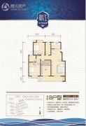 汉中世纪城3室3厅2卫115平方米户型图