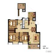 电建�吃酶�4室2厅1卫88平方米户型图